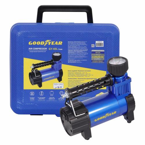 Воздушн.компрессор Goodyear GY-45L CASE 45л/мин, питание от АКБ, съемный резиновый шланг, кейс для хранения (4)