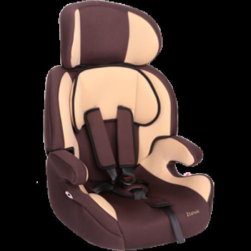"""Детское авт. кресло  ZLATEK """"Fregat"""" коричневый, 1-12 лет, 9-36 кг, группа 1/2/3"""